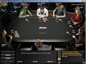 bWin Poker - Screenshot
