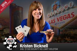 Kristen Bicknell erste weibliche Bracelet-Gewinnerin der WSOP 2016