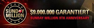PokerStars Sunday Million: $9 Millionen zum 9. Geburtstag