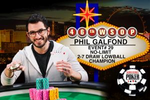 Phil Galfond gewinnt sein zweites Bracelet bei der WSOP