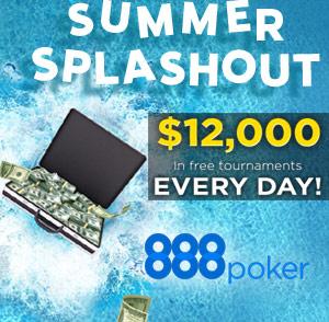 888 Summer Splashout: Tägliche Gewinne von $12k