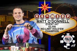 WSOP 2015: Bracelets für Matt O'Donnell, Young Ji und Ben Yu