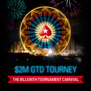 Billionth Tournament Carnival: PokerStars feiert mit Pokerfestival einen Meilenstein
