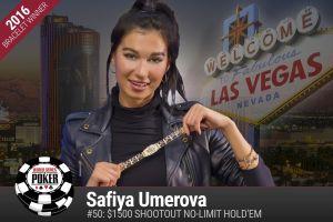 WSOP 2016: Safiya Umerova holt sich ihr erstes Bracelet