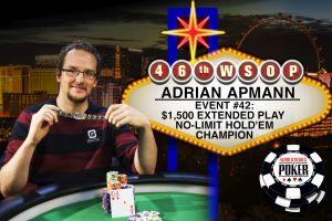 Adrian Apmann der nächste deutsche Sieger bei der WSOP 2015