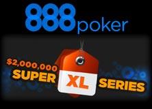 888Poker Super XL Serie im Januar mit mehr als $2,4 Millionen garantierten Preisgeldern