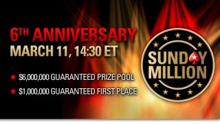 Sunday Million: Sechs Millionen zum Geburtstag